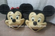 NO.2138 fibreglass head mickey and minnie costumes