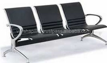 3 Seats Metal Waiting Room Chair / Airport Seating
