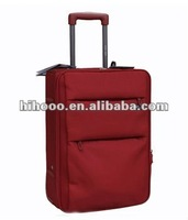 Soft Luggage Nylon luggage Durable Red luggage Carry-on trolley bag