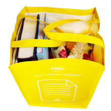 High-capacity yellow tote shopping bag