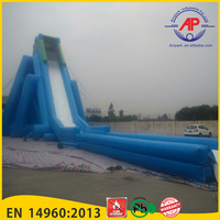 Guangzhou Airpark inflatable water slide with pool for Children