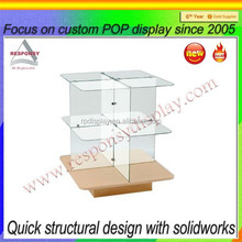 durable custom wood and acrylic desktop display stand for book, brochures