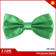 100% Polyester Satin Green Normal Size Flashing Bow Tie