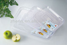 wholesale kitchen products , high quality large size plastic crysta plate,crystal dish 2004