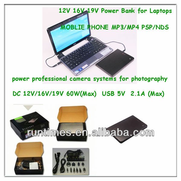 2012 new products 16000mah high capacity mobile power supply