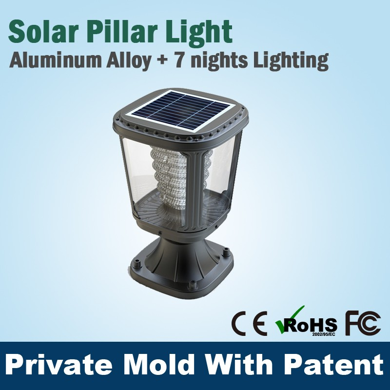 All In One Rechargeable Garden Solar Lamp Led Light 1W