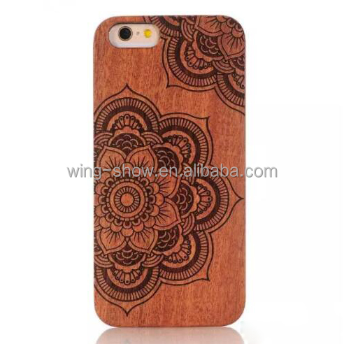 flower design real natural rose wooden cell phone covers for iphone 7 4.7 inch ,hot 2017