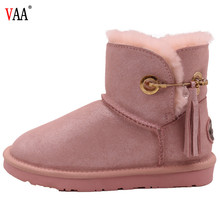 CF-031 Fashionable Design Pin And Tassels Middle Winter Boots Lady