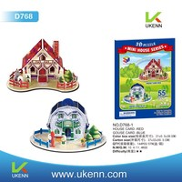 Educational toy 3D puzzle game mini house series models for kids handwork creation