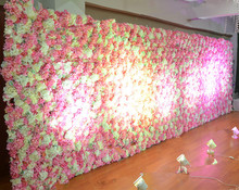 Luxury customized wholesale rose flower wall wedding backdrop