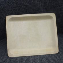 Biodegradable Square Wood Disposable Food Tray <strong>Plate</strong> for Sushi Cake Food Fruit Serving TB027