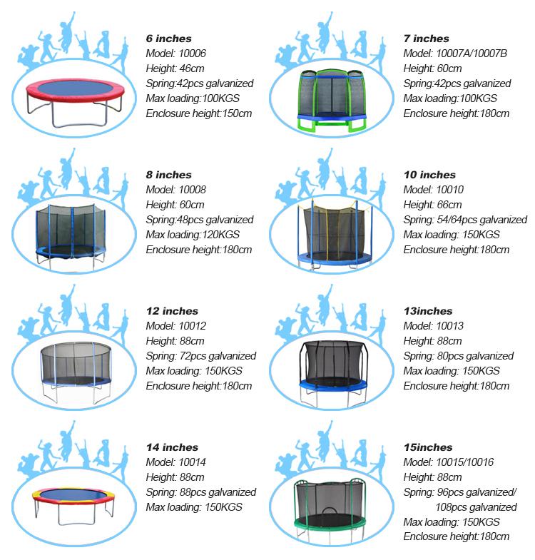 Cama elástica grande exterior colorida do trampolim de 13ft para crianças