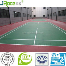 modified silicone PU badminton court surface material synthetic badminton flooring outdoor sport floor