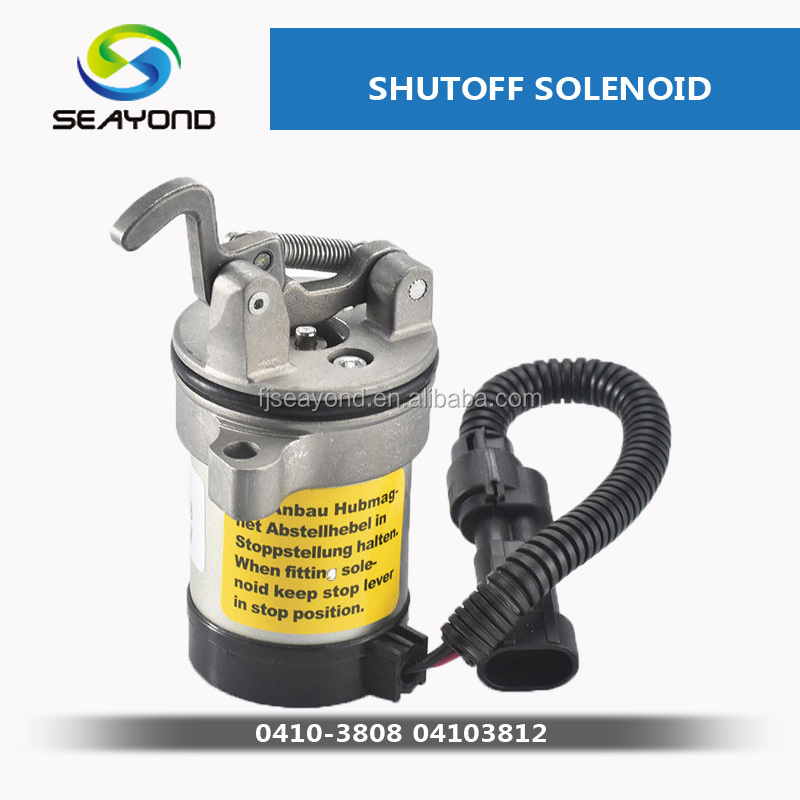 Use For Deutz F3L F3M F4L F4M 1011 <strong>Engine</strong> <strong>Parts</strong> 12V oil shutoff solenoid 04103812 0410-3808