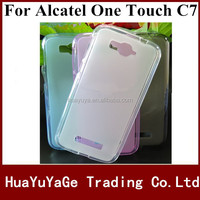 Free shipping phone cases tpu Soft cover pudding case for Alcatel One Touch POP C7 7040 7041 7040D 7040A