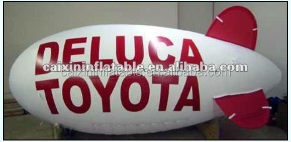 customized inflatable advertising helium airship toyouta carnival advertising