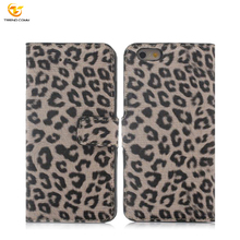 Leopard Wholesale PU Folding Universal Flip Mobile Wallet Printed Leather Phone Case