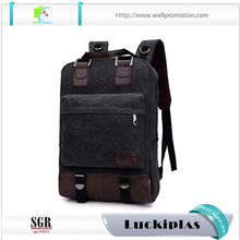 Portable waterproof laptop vintage canvas backpack for boys