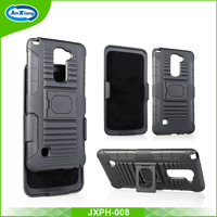 Quality Products Cell Phone Combo Holster Clips Armored Ring Case for LG LS775