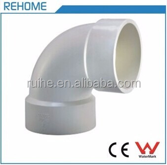 PVC DWV Schedule 40 Plastic Pipe Elbow 90 Deg Fittings for Plumbing