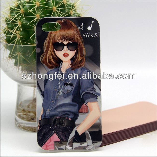 Fashion design cool DIY tpu phone cover for iphone5,mobile phone case for iphone