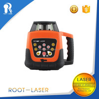 Exterior laser level for laser level staff laser leveling