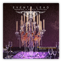 Events Lead Crystal Acrylic Candelabras