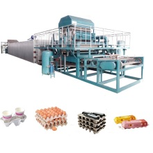 Paper Plates Party Waste Paper Recycling Machinery HUAXIANG Wine Tray Egg Tray Production Line