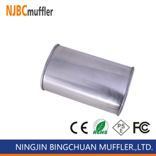High flow muffler stainless steel universal Muffler body stainless steel 409 Exhaust System Rear Stamped Box Muffler