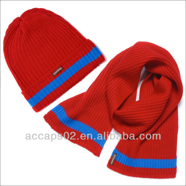 wholesale women's knit hat and scarf sets