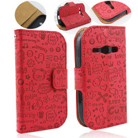 New arrival wallet flip leather case for samsung s6810