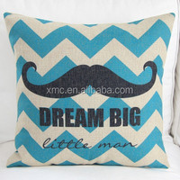 PP Cotton stuffing dream big blue ripple beard custom design printed polyester belly pillow