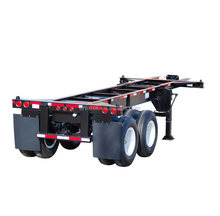 2 axles 20 foot skeletal semi trailer