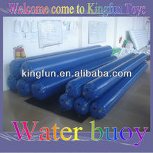 Floating inflatable buoys for aqua park