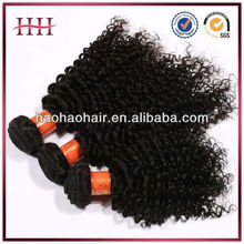 hair virgin brazilian tight curl hair weave 100% remy human hair weft extension