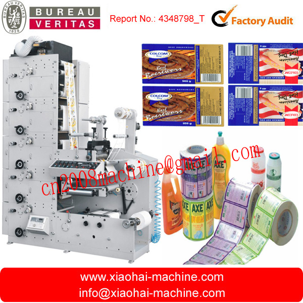 ZBS-320G 5 Colors Sticker Label Flexo Printing Machine With Three Die Cutting Station,With Sheet Conveyor