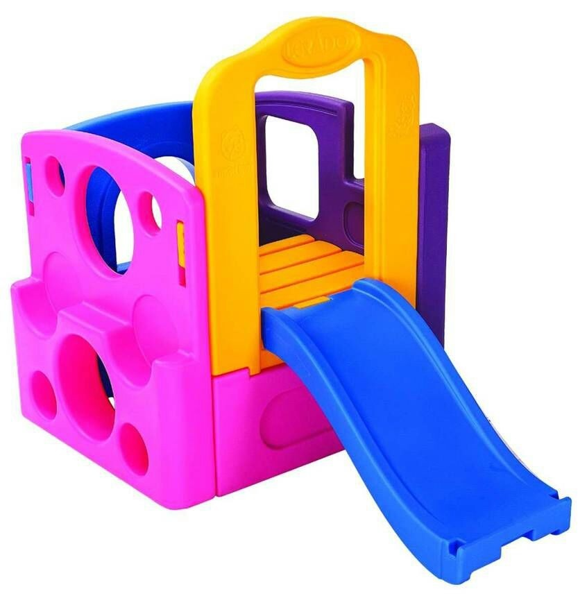 outdoor&indoor playground slide for children, small house, plastic slide and swing toys