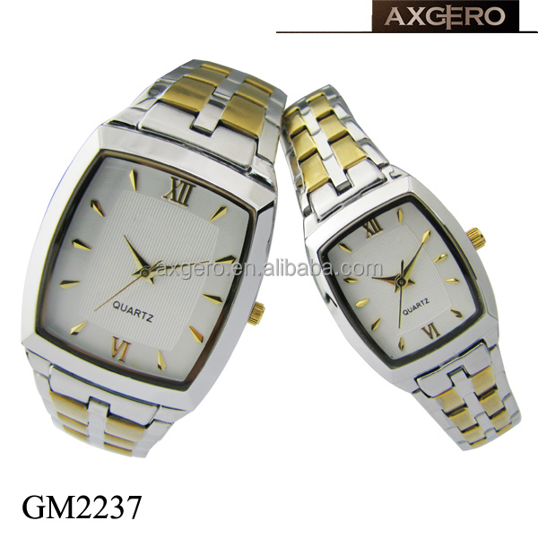 new pairs stainless steel men and women fashion gift watch
