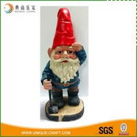 Antique Outdoor Decoration Resin Small Gnome Figurines