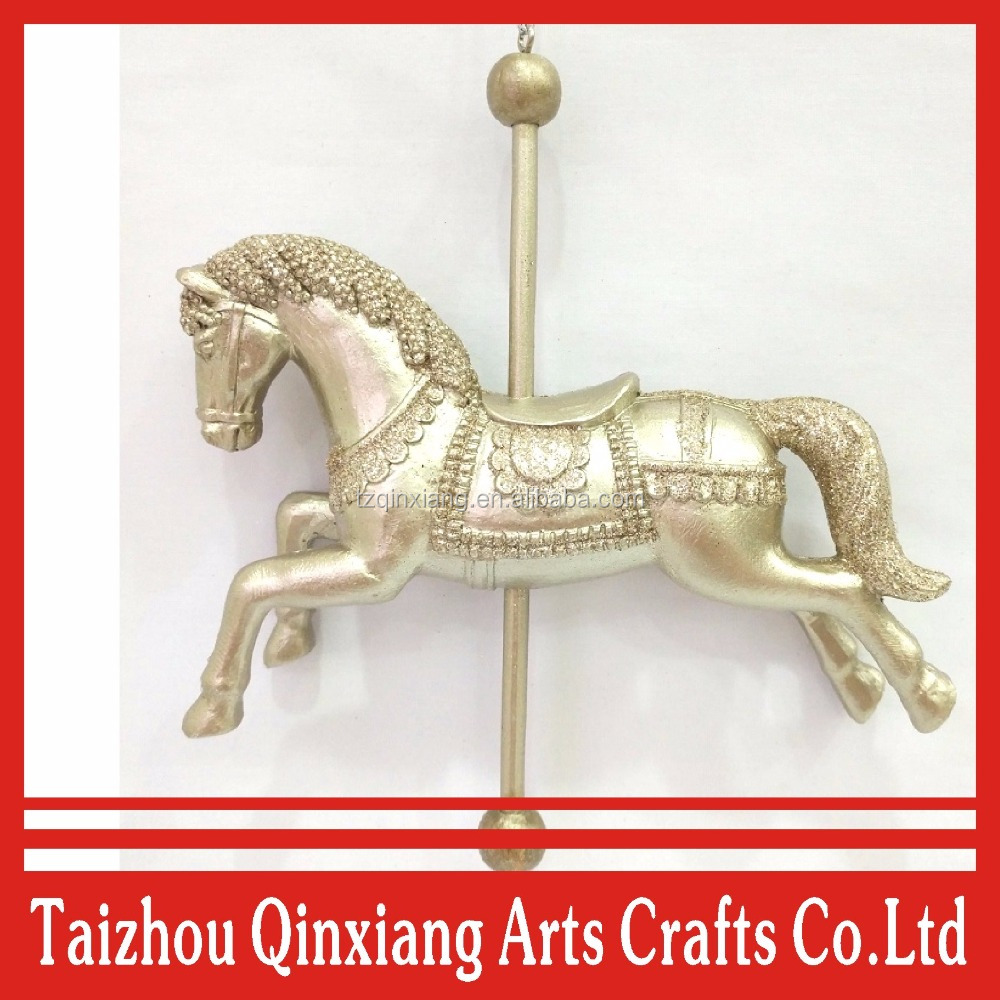 christmas hanging decoration Mini rocking horse