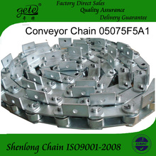 Zinc plated chain 05075F5A1 conveyor chain use on Mesh belt line