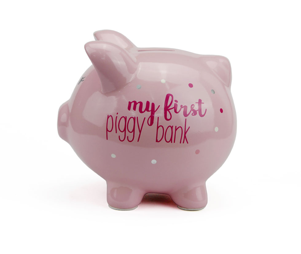 Ceramic Piggy Bank with Polka Dots Wholesale