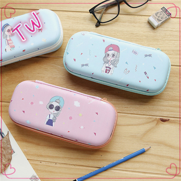 European Hot sale brand name custom handmade cartoon cute leather triangle glasses case free samples online shopping