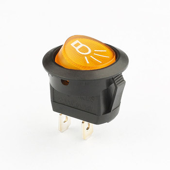 factory price 6a 10a 250v 2 pin t105 rocker switch round