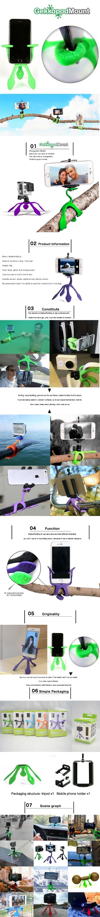 Smartphone Mount - Portable and Extremely Flexible miggo tripod that can be Set, Wrapped Hung and Clung Practically Anywhere