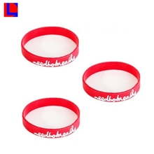 low price high quality name rubber band bracelet