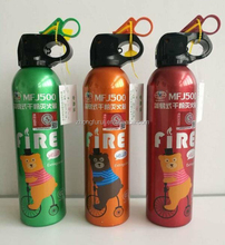 600ML Small-sized Wall mounted Handheld/throwable /casting fire extinguisher bottle made of Aluminium
