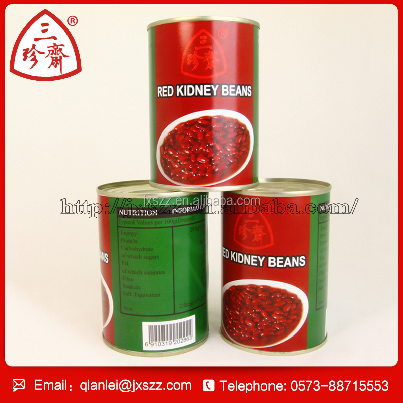 Fresh dark canned red kidney bean