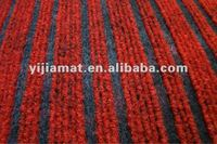 polyester ribbed outdoor red and black rugs and carpets