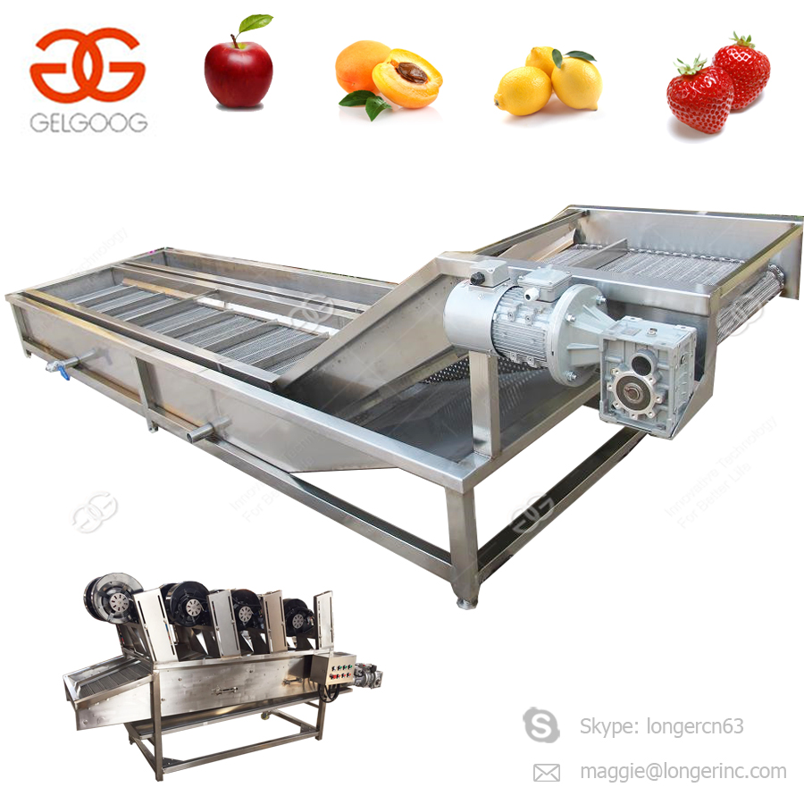 Hot Sale Shrimp Apple Fruit and Vegetable Black Radish Green Pepper Cleaning Drying Machine Palm Dates Bubble Washing Machine